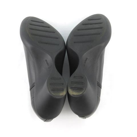 リゲッタ Re:getA ブーティ パンプス ウェッジソール フェイクレザー 黒 ブラック S 約22cm 革靴 レディース
