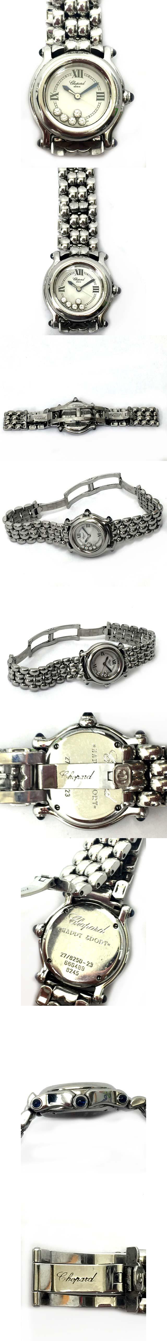 ハッピースポーツSS 腕時計 クオーツ 5Pムービングダイヤ シルバー 27/8250-23