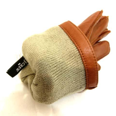ジェイクルー J.CREW 手袋 グローブ レザー レッドブラウン 赤茶 M SSS8 メンズ
