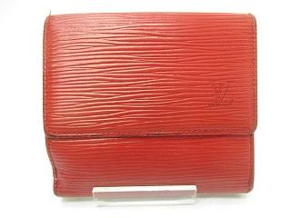 reputable site 27eb5 21332 ルイヴィトン LOUIS VUITTON 小物 財布 二つ折り財布 エピ 小銭入れ 札入れ カード入れ ロゴ M10981 レッド 赤 メンズ  レディース