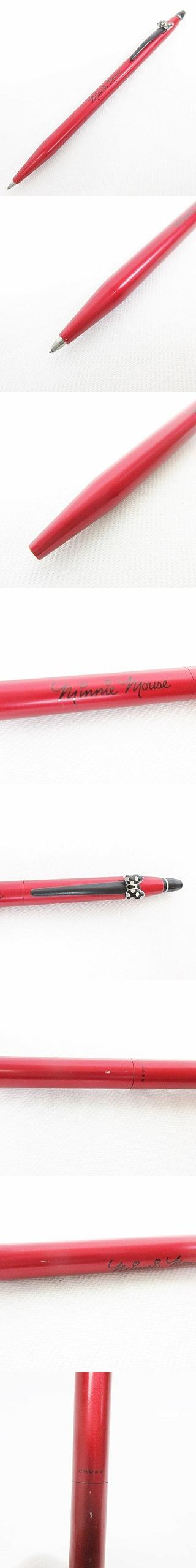 クロス CROSS 小物 文房具 筆記用具 ボールペン ディズニー ミニー  ロゴ リボン レッド マットレッド ブラック AT0625D2-8