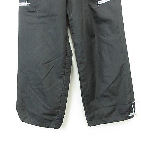 ヒロココシノ HIROKO KOSHINO パンツ ロング ストレート ウエストゴム スポーツ 黒 水色 ブラック ブルー 150 キッズ
