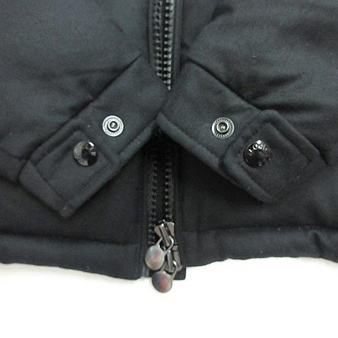 モンクレール MONCLER モンジュネーブル MONTGENEVRE ジャケット ダウンジャケット ジップアップ フード ウール 2019AW ブラック 黒 2 メンズ