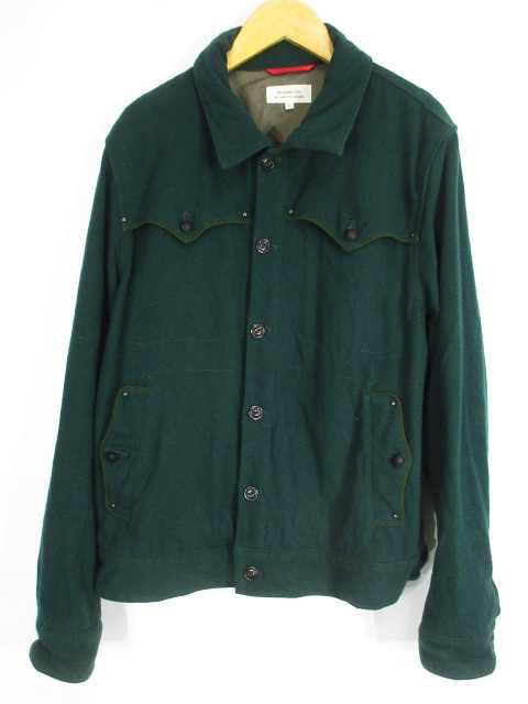 ヒロミチナカノ hiromichi nakano ジャケット ウール 長袖 無地 緑 L メンズ