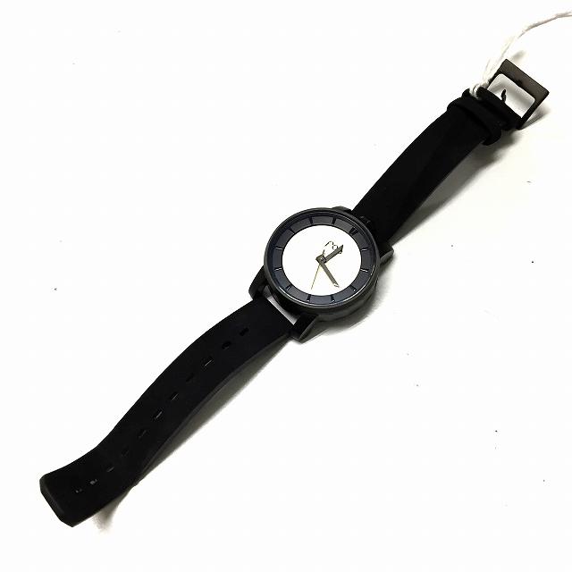 未使用品 フォブ パリス fob PARIS 腕時計 機械式 レザーブレス R360-07-S/Rehab Solid White Silver 360 マットブラック 00 00 メンズ レディース