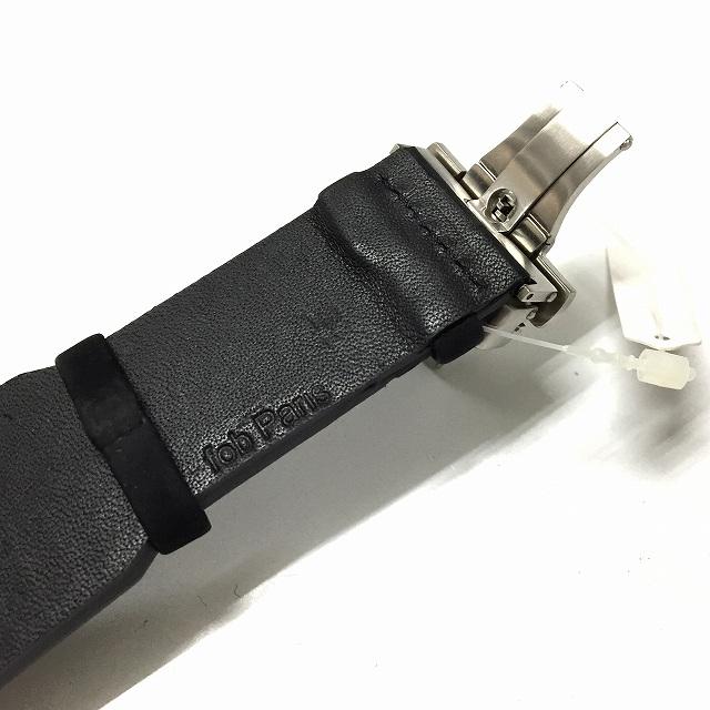 フォブ パリス fob PARIS 腕時計 機械式 レザーベルト Rehab 413 Silver S シルバー メンズ レディース
