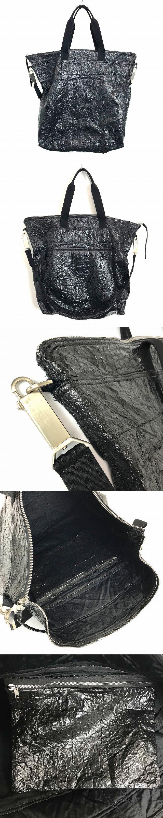 レザー 2WAY ハンドバッグ ショルダーバッグ オーバーサイズ 牛革 黒 ブラック