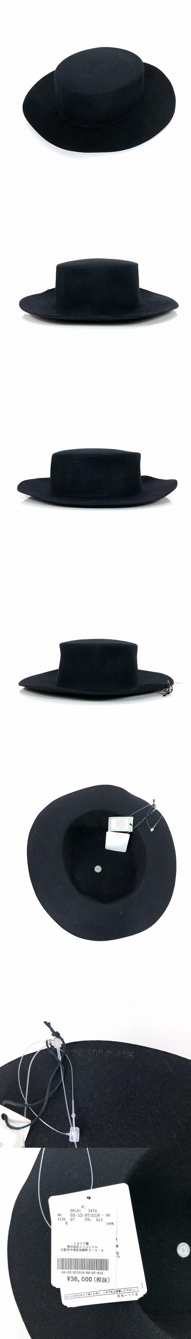 フェルト ウール ハット 帽子 ZORRO SHORT L01 ブラック 黒 SIZE 07 S 6553971019 col.013