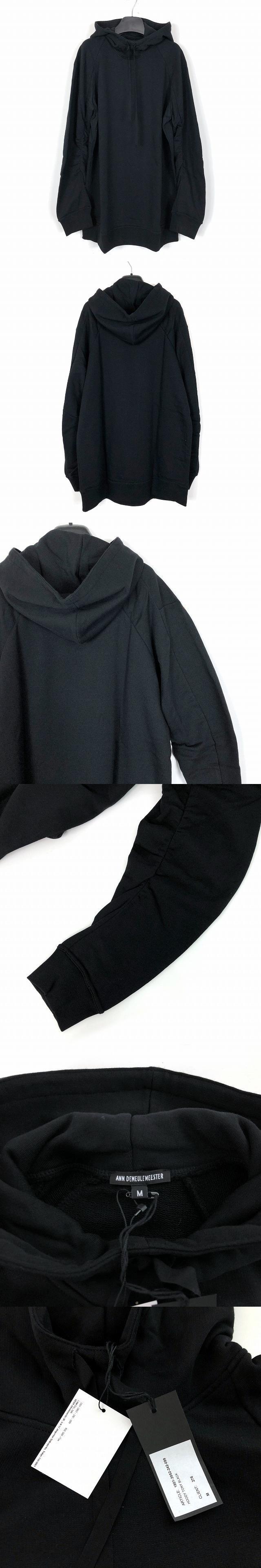 18SS シャーリングスリーブ プルオーバー パーカー ブラック 黒 M 1801-3952-242-099