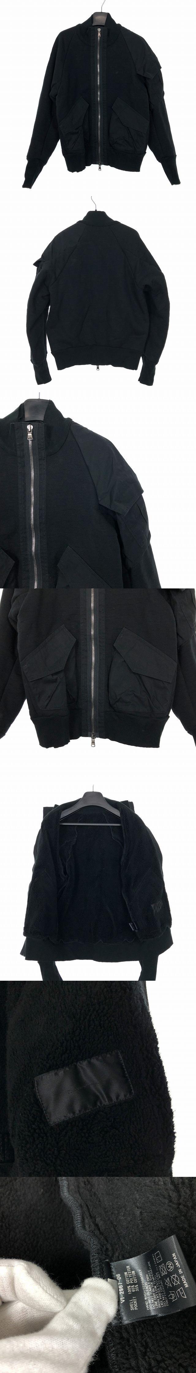 18AW ベビーパイル ボンバージャケット ボアブルゾン 1 ブラック 黒 VI-2967-06
