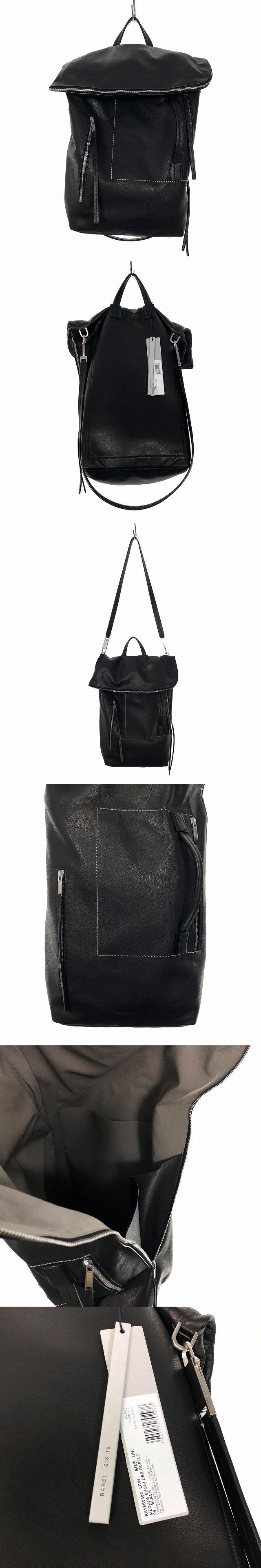 19SS レザー ショルダーバッグ MEDIUM SHOULDER DUFFLE ブラック 黒 RA19S0369 LCW