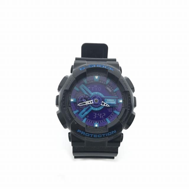 d8d451f639 カシオジーショック CASIO G-SHOCK 腕時計 ハイパーカラーズ Hyper Colors GA-110HC ブラック 黒 パープル 紫 メンズ