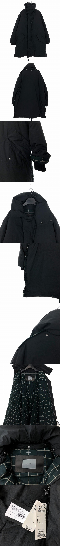 17AW ハイネック ダウンコート 長袖 Tubular Padded Coat  46 ブラック 黒 41803
