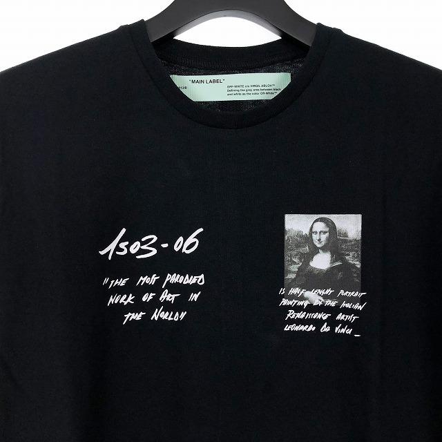オフホワイト OFF WHITE 19SS MONALISA L/S TEE モナリザ バックプリント Tシャツ カットソー ロンT 長袖 M ブラック 黒 OMAB001S19185005 メンズ