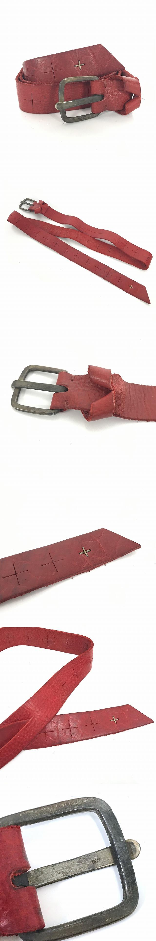 18SS クロスカット パイソンレザー ワイドベルト d buckle cross cuts wide belt 赤 レッド ED2E-Bl3,0