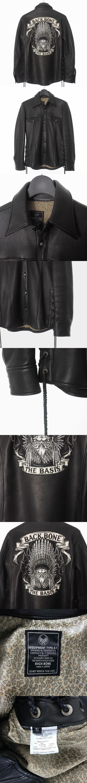 関係者限定 インディアンスカル ディアスキン レザーシャツ 長袖 サイドレースアップ S ブラック 黒 BB07FW-LS00