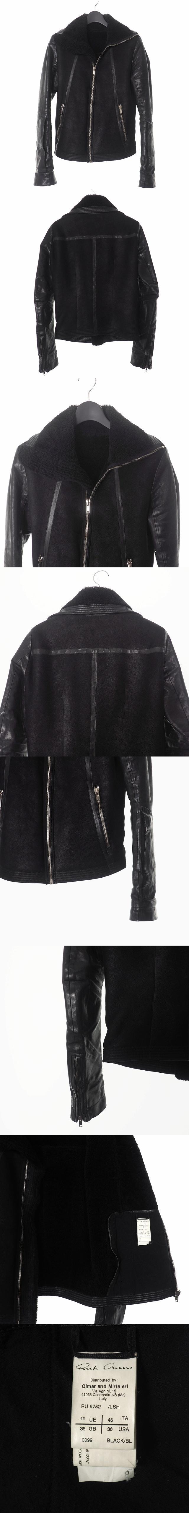 ムートンライダース ジャケット ブルゾン カーフレザー 46 黒 ブラック RU9782 国内正規