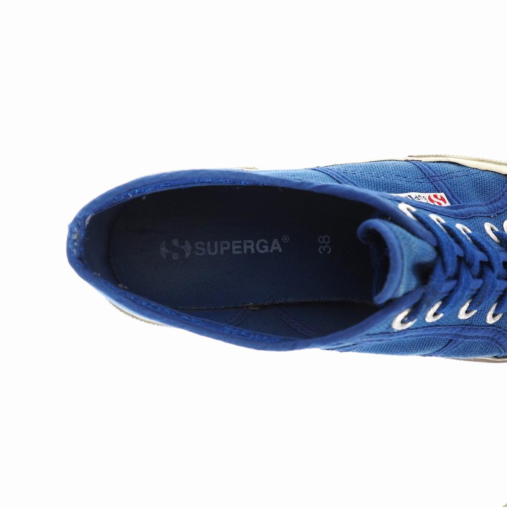 スペルガ SUPERGA キャンバス スニーカー 38 ブルー 青 レディース