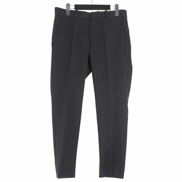 未使用品 ダイエットブッチャースリムスキン DIET BUTCHER SLIM SKIN 18AW Wool Skinny Trousers ウール スキニー トラウザーズ パンツ スラックス 3 チャコール D183P541 メンズ