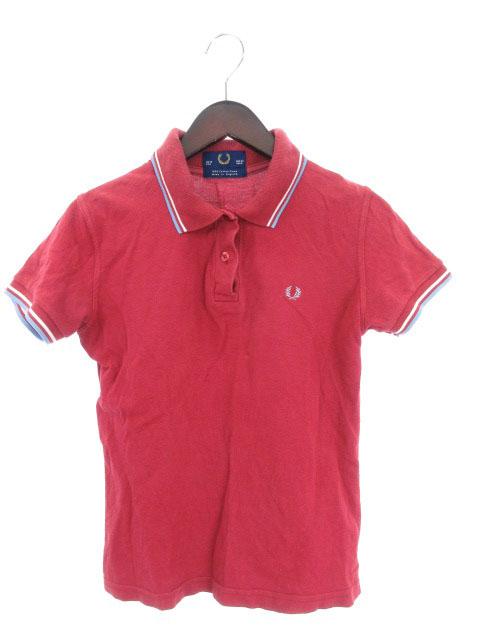 71dccfaf257f フレッドペリー FRED PERRY ポロシャツ 半袖 ロゴ コットン 38 赤 レッド 国内正規 /mi レディース