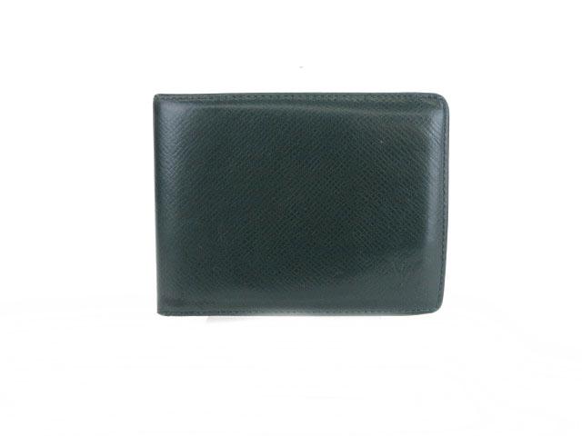 buy popular 4dff5 d6379 ルイヴィトン LOUIS VUITTON ポルトビエ 6カルトクレディ タイガ 財布 札入れ 二つ折り 緑 グリーン M30484 /mm メンズ
