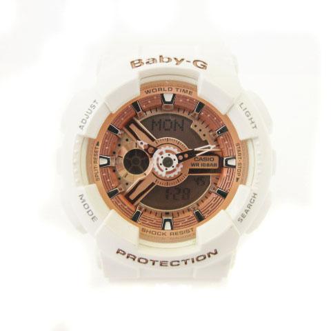info for b385b 10fbf ベビージー Baby-G 腕時計 Big Case Series ビッグ ケース シリーズ クォーツ デジタル 白 ホワイト ピンク BA-110  ☆CA☆キ30-3店 cmy0128 レディース