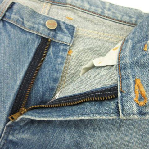 ユナイテッドアローズ UNITED ARROWS ラングラー Wrangler パンツ デニム ジーンズ レギュラー ストレート USED加工 29 青 ブルー ☆CA☆キ31-4店 cmy0128 メンズ