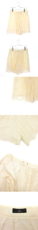 パンツ キュロット レース スカラップ 9 白 ホワイト ☆S☆ /mm0321