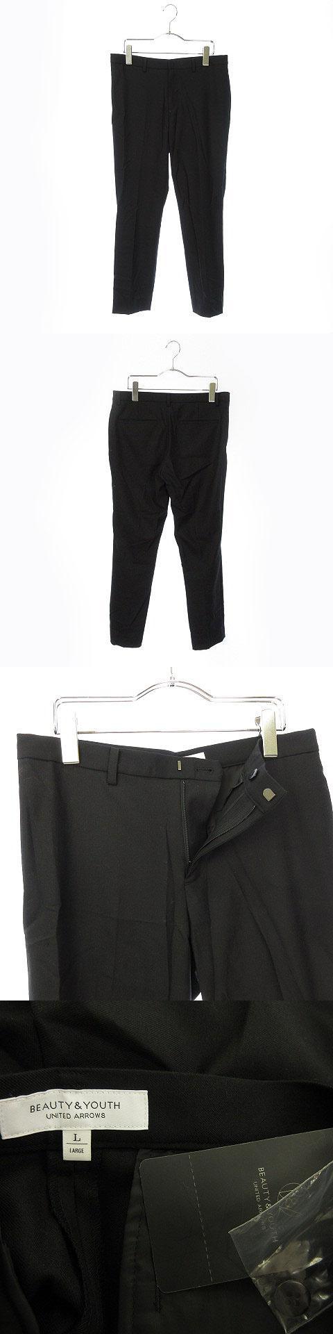 パンツ スラックス ウール混 L 黒 ブラック ☆CA☆1902店 /ts0605