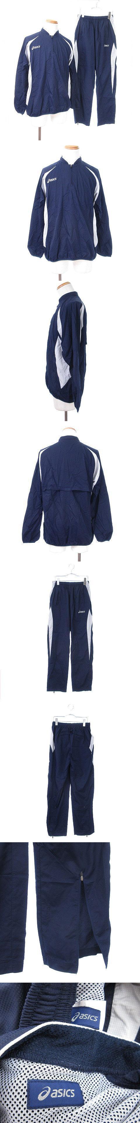 スポーツウェア セットアップ ナイロン L 紺 ネイビー ☆O☆ /ts0612
