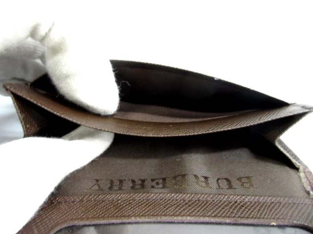 バーバリー BURBERRY パスケース 定期入れ レザー チェック 茶 /AK14 レディース