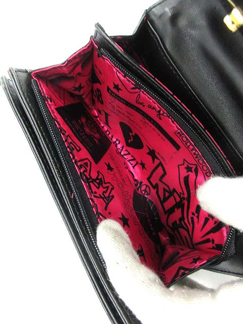 f022af589df0 ... キットソン KITSON 財布 二つ折り ロゴ 総柄 赤 /DE27 レディース ...