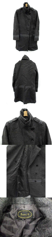 コート スタンドカラー ロング ウール 36 グレー /YI29