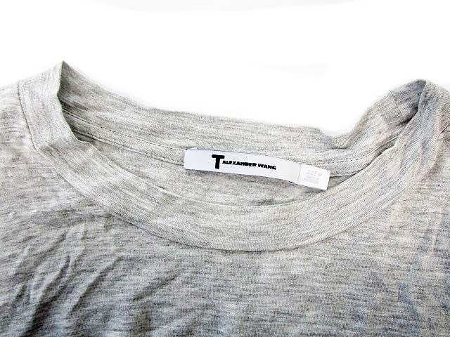 ティーバイアレキサンダーワン T by Alexanderwang Tシャツ カットソー 半袖 M グレー /VTK メンズ