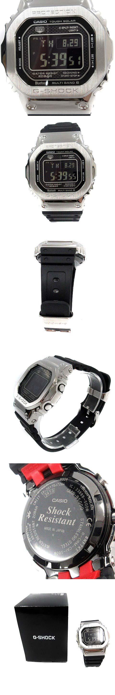 腕時計 クォーツ デジタル ステンレススチール 黒 シルバー色 GMW-B5000 /YI27 ■SM