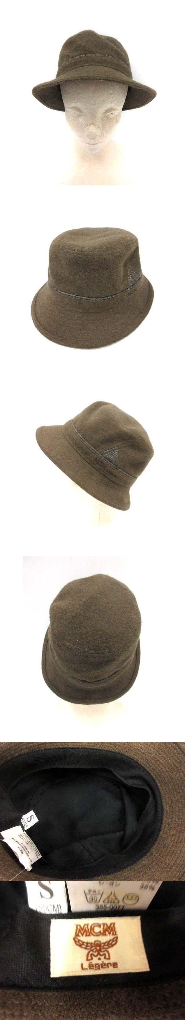帽子 ハット ウール混 S 茶 /YI12