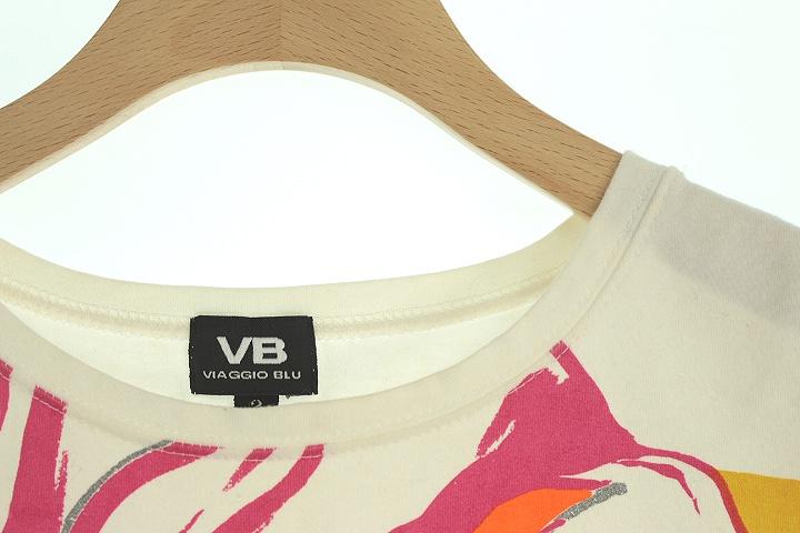 ビアッジョブルー Viaggio Blu Tシャツ カットソー 半袖 2 白 レディース