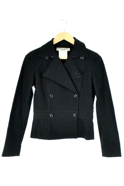 63adb29568e7e キャサリンハムネットロンドン KATHARINE HAMNETT LONDON ジャケット テーラード ダブル 黒 レディース