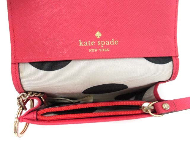 ケイトスペード KATE SPADE パスケース 小銭入れ ピンク /DT11 ● レディース