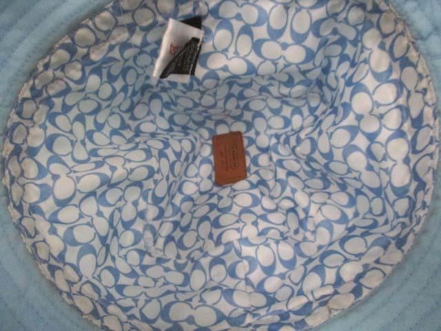 a3bdb8569c71 コーチ COACH 帽子 ハット ナイロン 水色 S /DJ ○ レディース 144 ...
