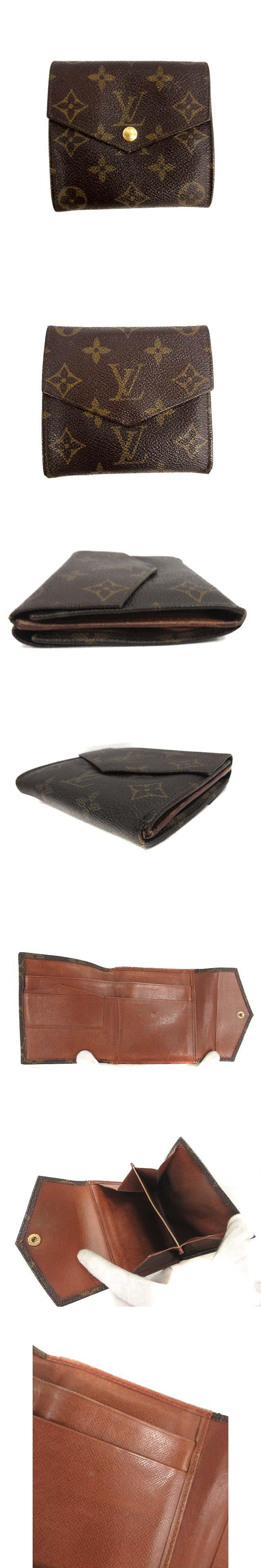財布 モノグラム ポルトモネ ビエ カルトクレディ 旧型 二つ折り Wホック 茶 M61660 /NT27 ■CA