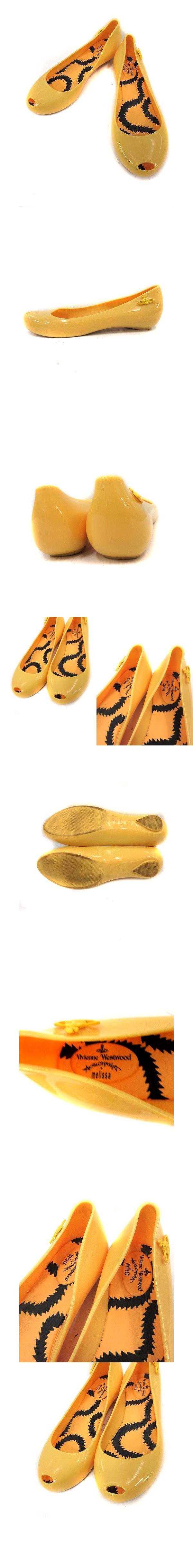 アングロマニア melissa パンプス フラット ラバー オーブ 36 黄色 イエロー /KH ■CA