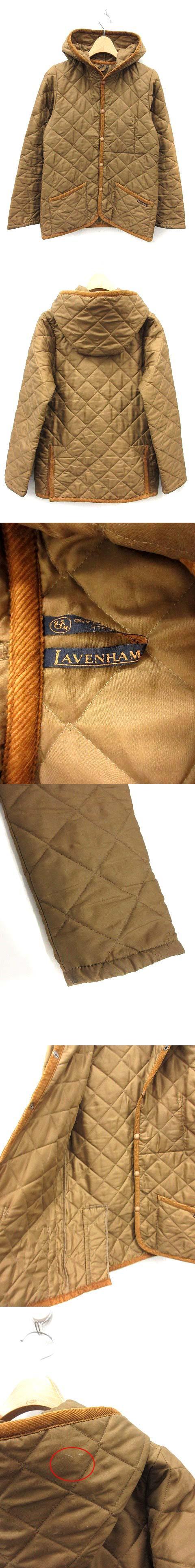 ジャケット キルティング 中綿 フード 36 茶 ブラウン /KH ■CA17