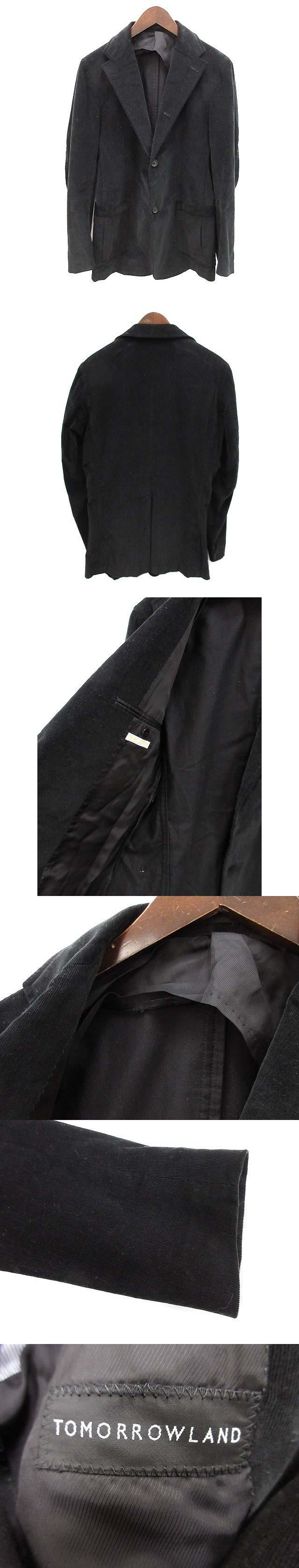テーラードジャケット コーデュロイ 46 黒 ブラック /OG17