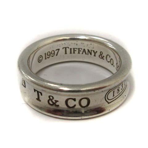brand new 54cf1 64197 ティファニー TIFFANY & CO. 指輪 ナローリング 925 シルバー 1837 /DH24 メンズ