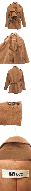コート ショート ベルト 2 茶 ブラウン /MR ■CA直1