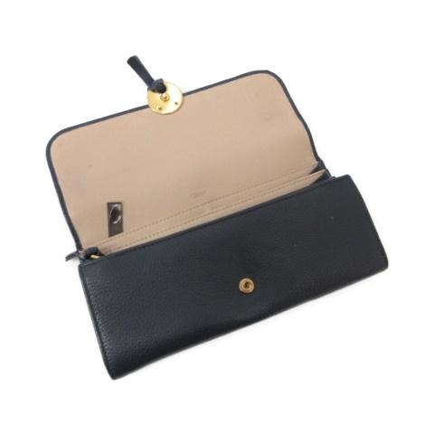 quality design 43e81 73360 クロエ CHLOE 長財布 レザー 紺 ネイビー /MR ●D レディース