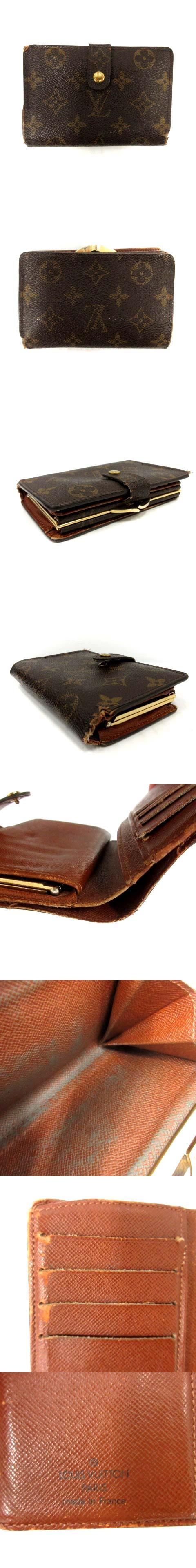 財布 二つ折り がま口 モノグラム  ポルトモネ ビエヴィエノワ 茶 M61663 /DH3 ■CA直1