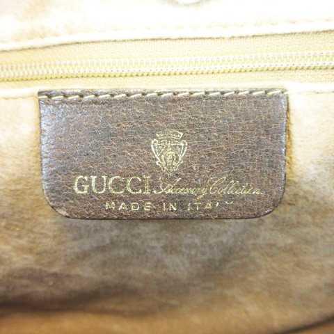 c1ac38bddbf5 ... グッチ GUCCI 010-378 オールドグッチハンドバッグ ミニ ボストン GG柄 PVC グレージュ ブラウン MH01