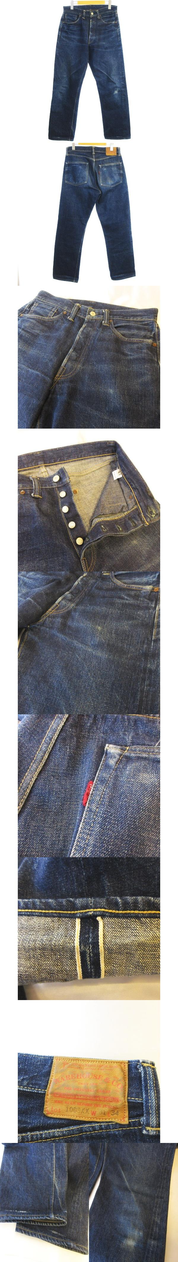 1003XX デニム パンツ 大戦 ストレート ジーンズ ボタンフライ 綿100% ブルー 青 31 KK0128
